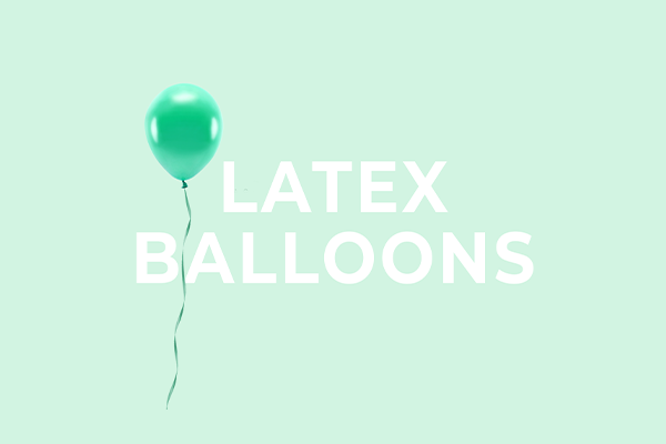 Latex balloons from PartyDeco