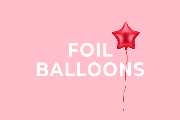 Foil balloons from PartyDeco