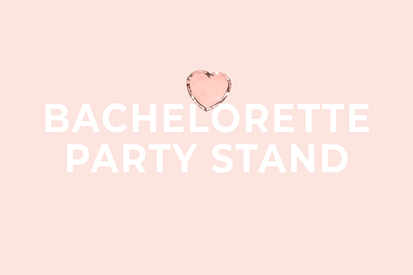 Bachelorette party stand display from party Deco