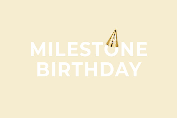 Milestone Birthday decorations from PartyDeco