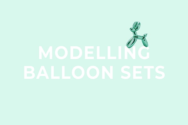 Modelling balloon sets from PartyDeco
