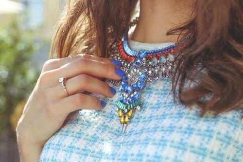 Large Necklace Rhinestones