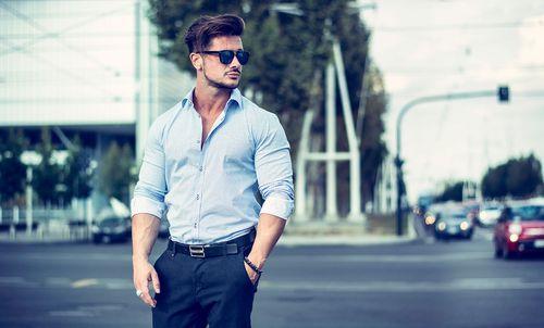 Casual Light Blue Shirt