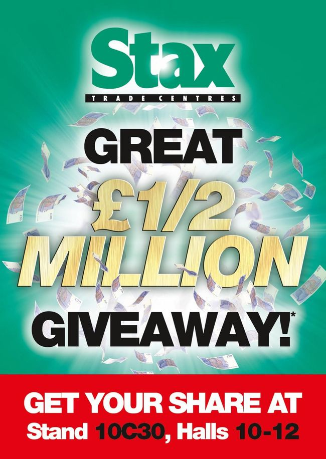 Stax gives retailers 'MORE' with huge £500,000 giveaway at Spring Fair!
