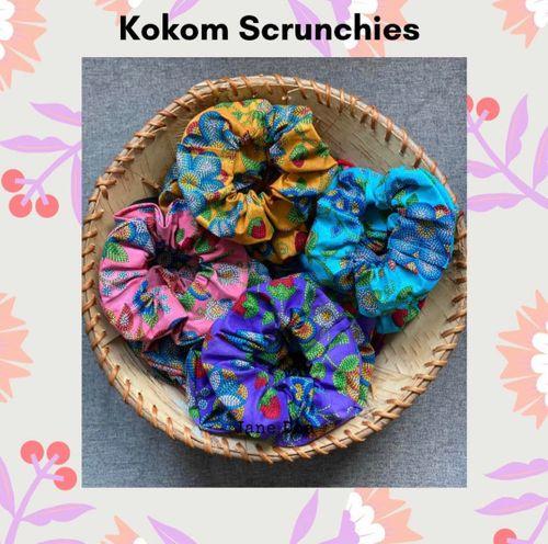 Kokom Scrunchies: Beaded Material