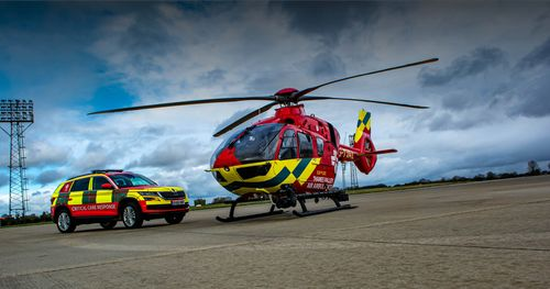 Thames Valley Air Ambulance protected by Pacific R6C Helmet