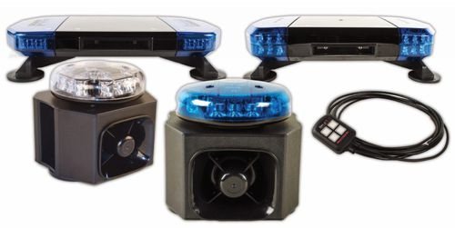 'All in one' warning solution for emergency vehicles