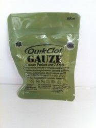 QuikClot Z Fold Gauze X Ray detectable 3 inches x 4yards (7.5cm x 3.7M)