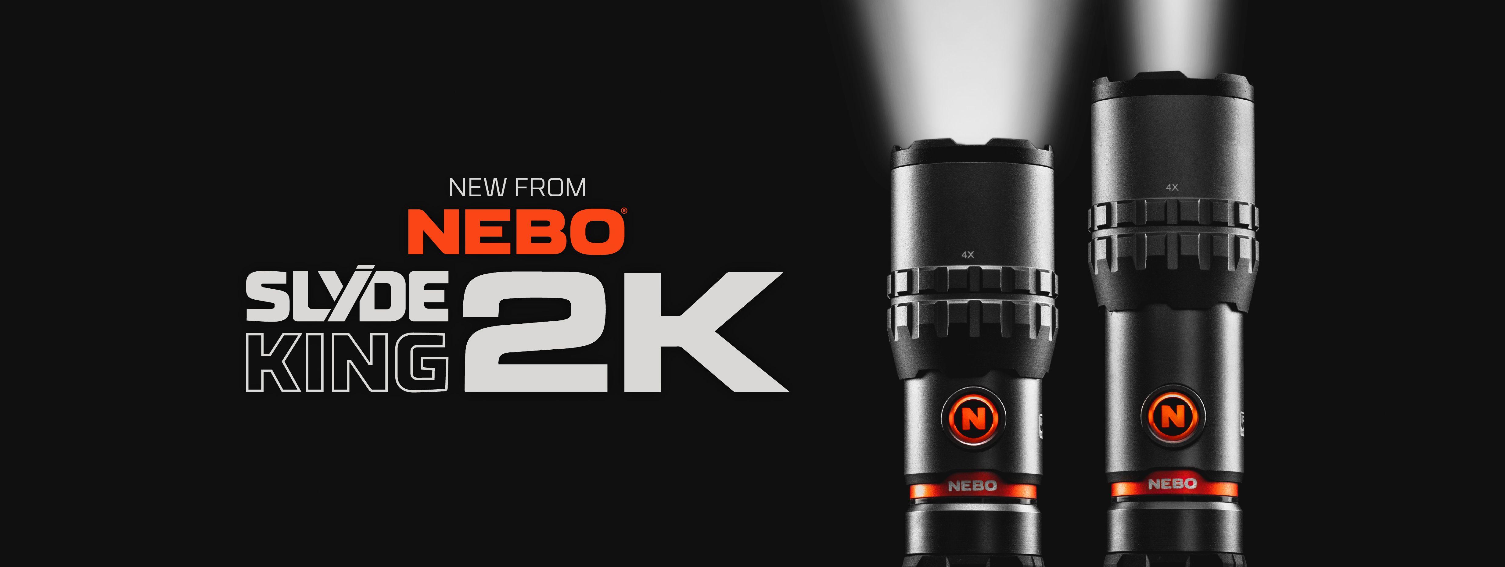 SLYDE KING 2K - Rechargeable 2,000 Lumen Flashlight & 500 Lumen Work Light