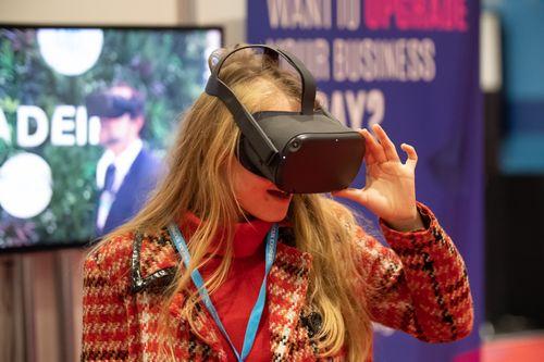 Female VR Headset User