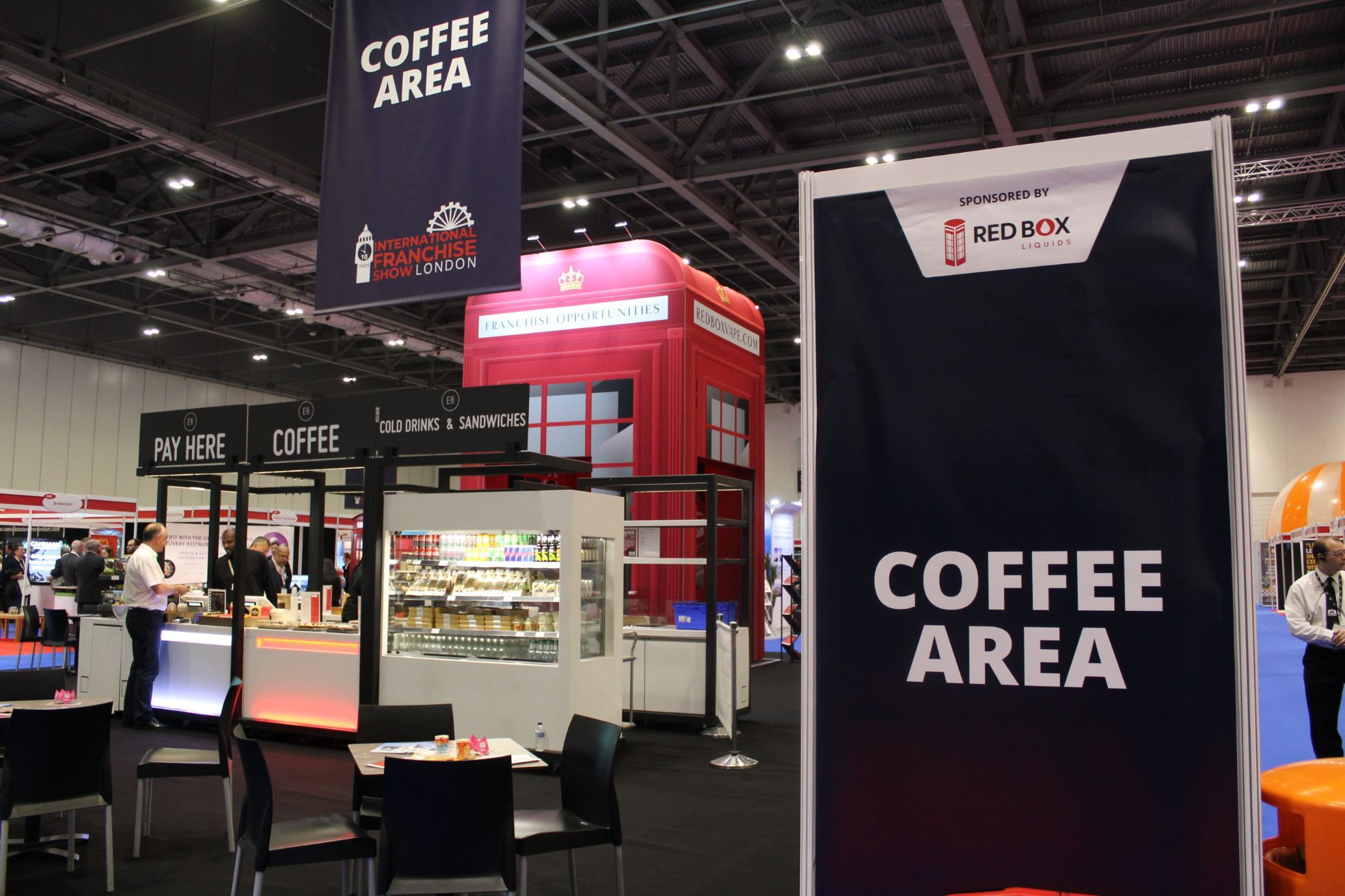 The Franchise Show Coffee Area