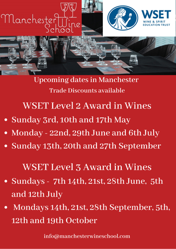 New dates released | Manchester Wine School