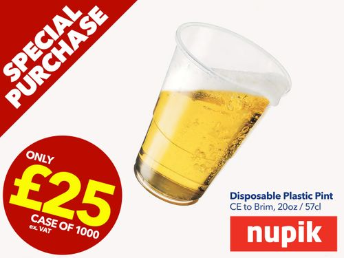 Nupik Disposable Pint Glasses