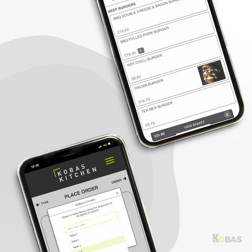 Mobile Ordering App powered by Kobas