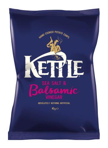 KETTLE Chips Sea Salt & Balsamic Vinegar of Modena 18x40g