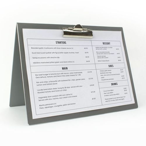 Folding Metal Table Menus