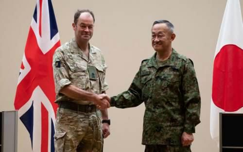 Japan Ground Self-Defence Force officers participate in UK Mission Rehearsal Exercise