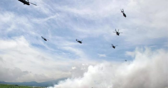 Japan launches first joint military drill with US, France