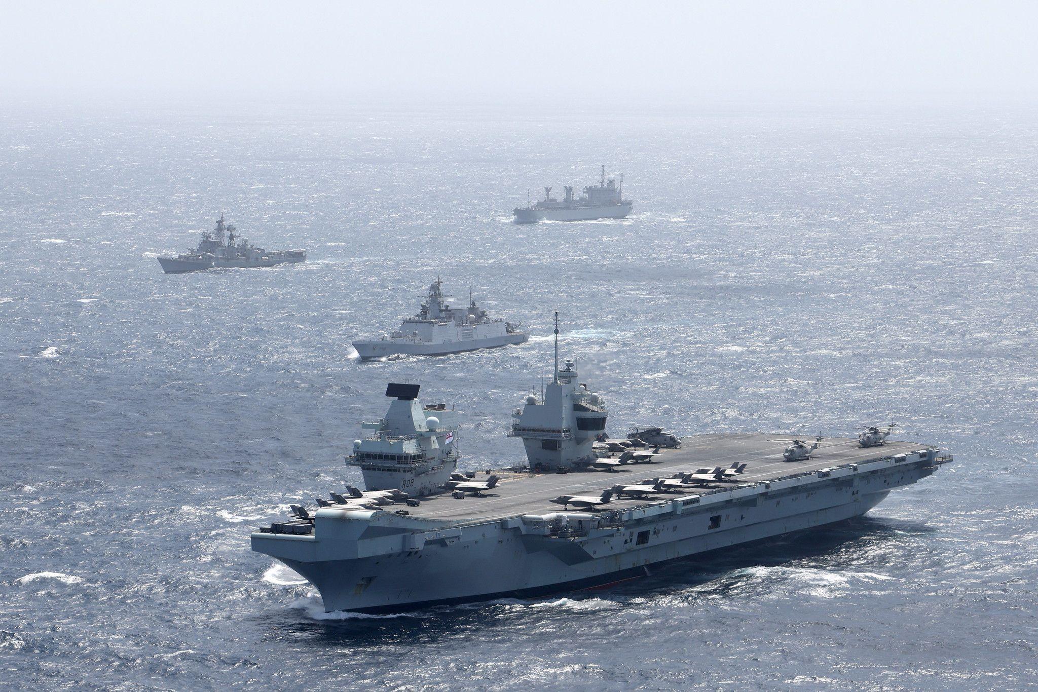 UK Carrier Strike Group flagship HMS Queen Elizabeth to arrive in Japan