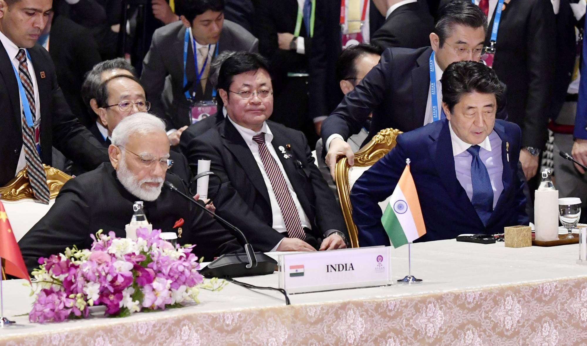 Japan and India sign military supply-sharing pact