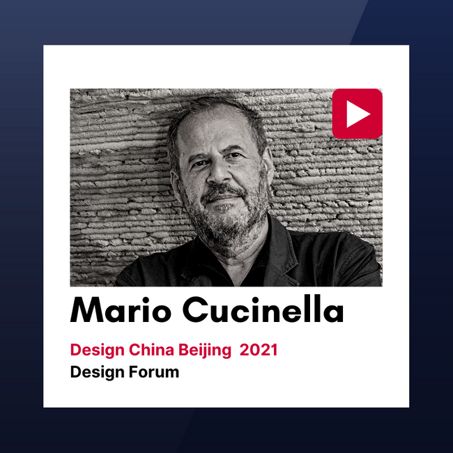 Design China Beijing 2021 Forum Talks: Mario Cucinella
