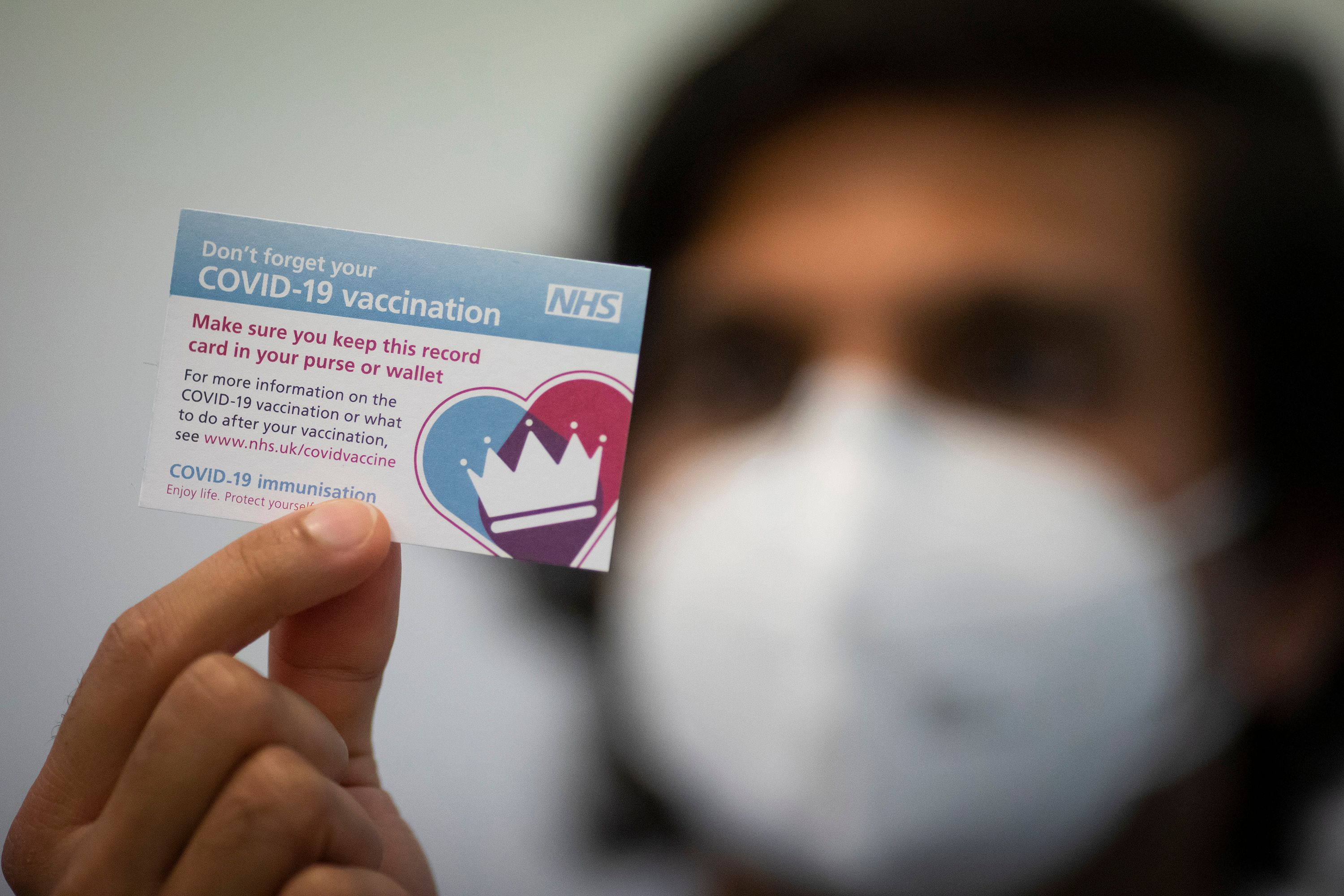 NHS COVID Vaccination Card