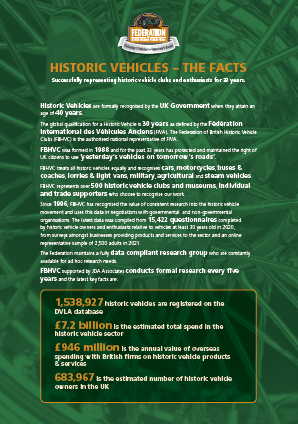Historic Vehicles - The Facts