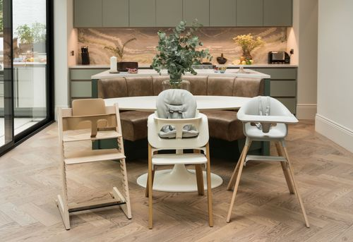 What seat at the table will you pick? Stokke® has the ideal high chair for you, your baby and your interiors!