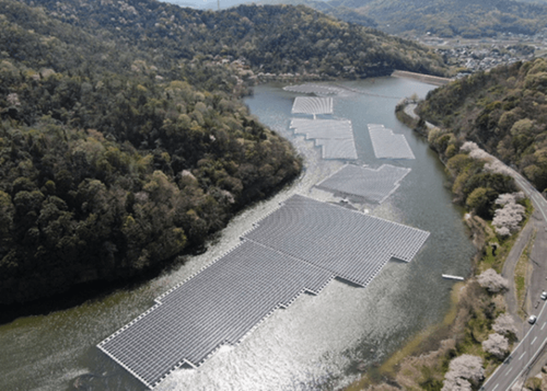 Floating solar plant starts operating on Japanese reservoir
