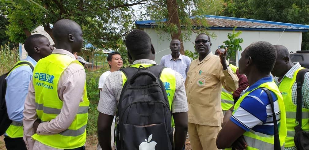 Mr Jacob M Deng addressing visitors at the Ezra Power Plant