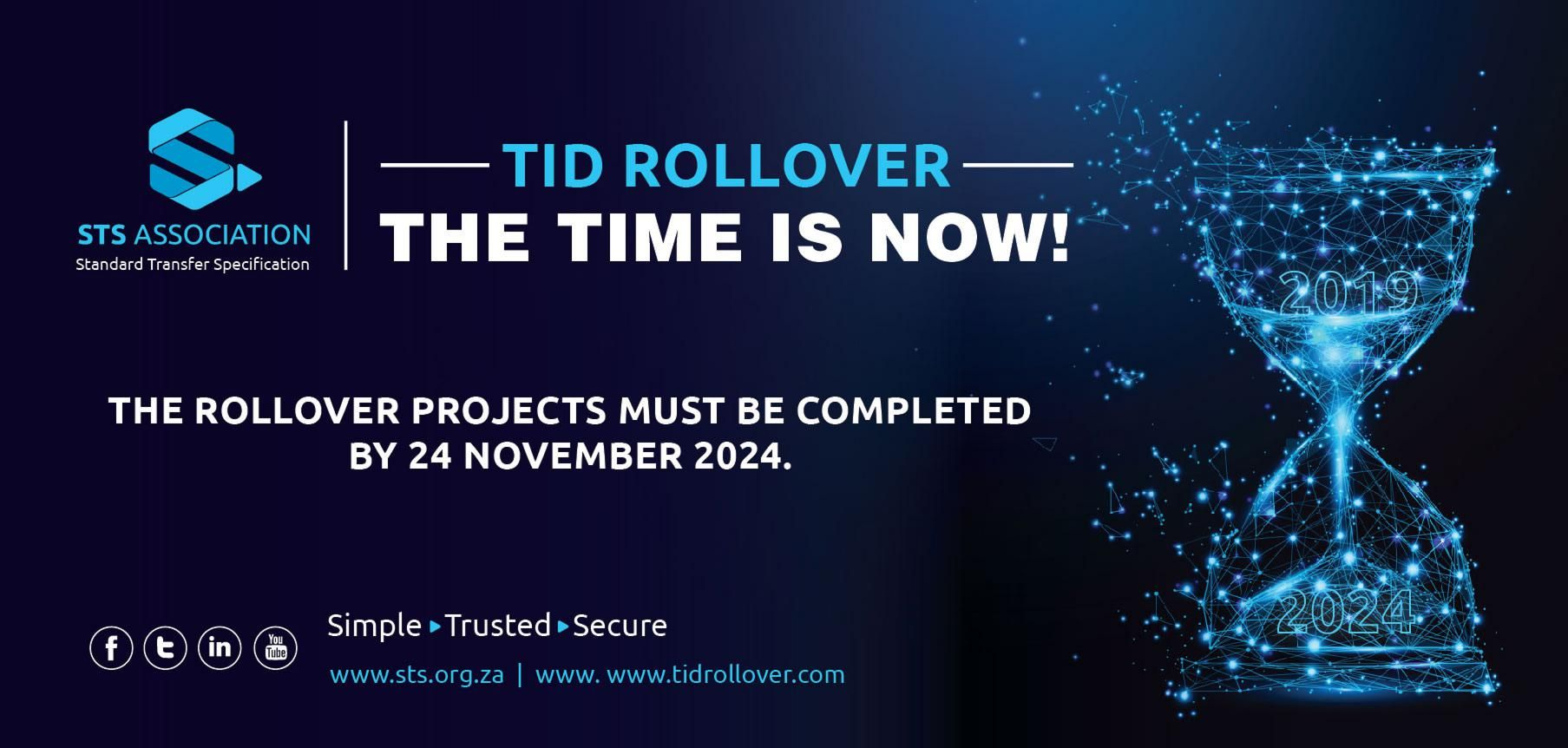 TID ROLLOVER COUNTDOWN CONTINUES
