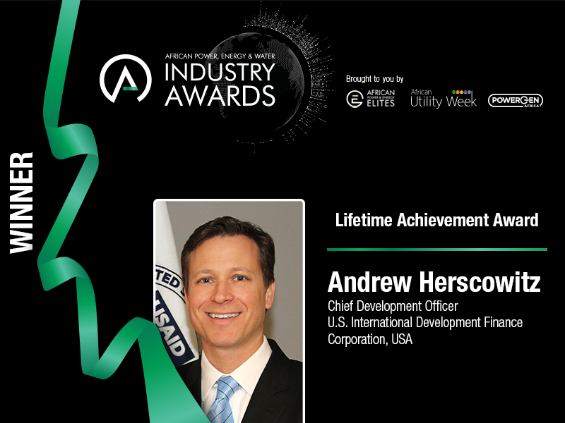 Former Power Africa Coordinator Andrew Herscowitz wins Lifetime Achievement Award