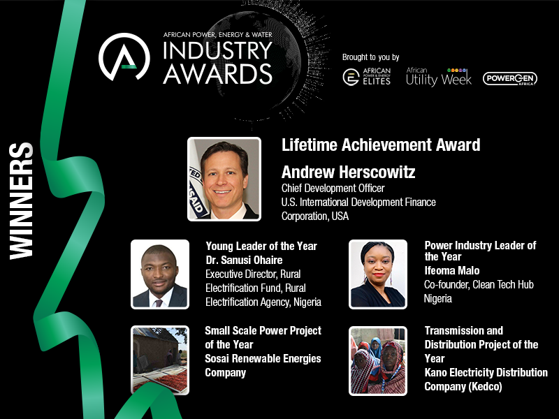 Nigerian power pioneers dominate annual African Power, Energy & Water Industry Awards