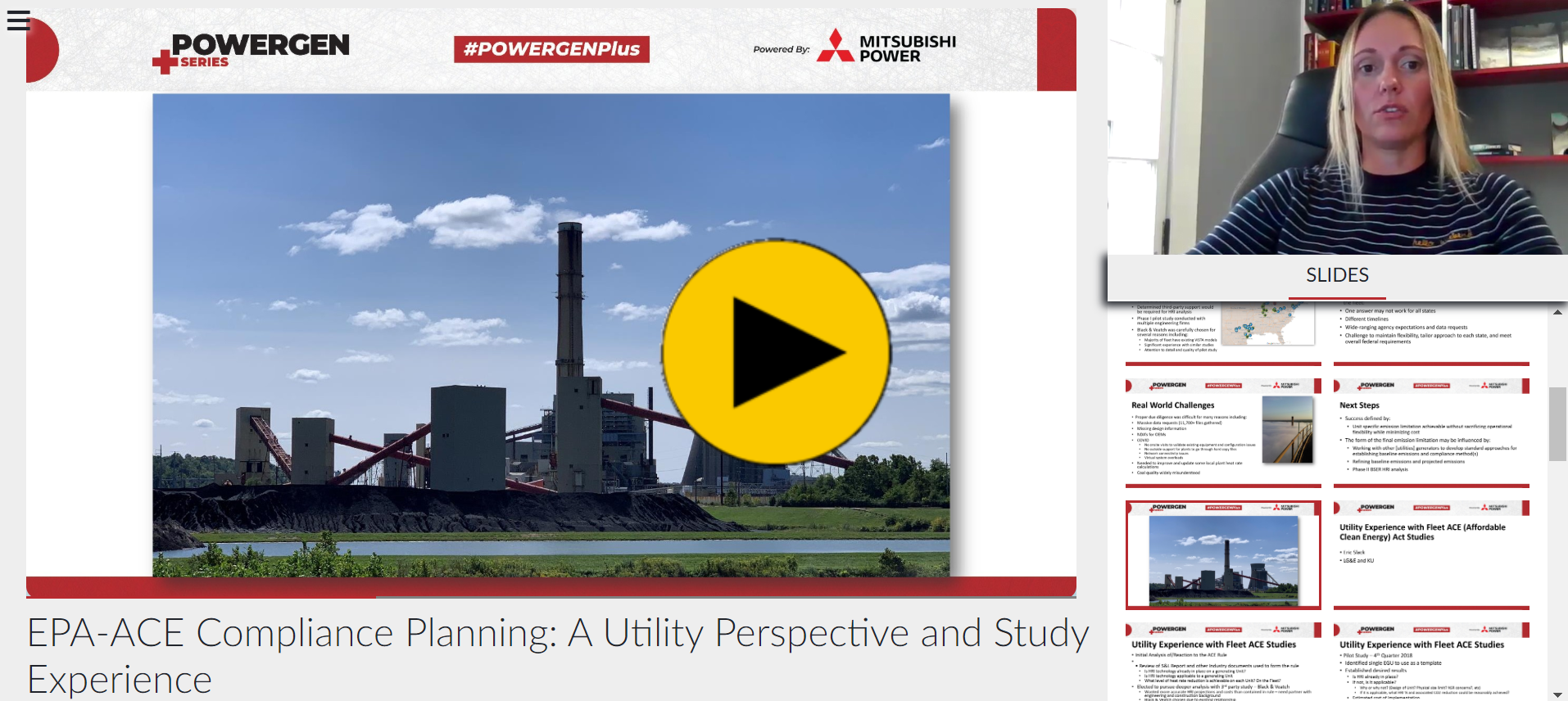 POWERGEN+ - EPA-ACE Compliance Planning: A Utility Perspective and Study Experience