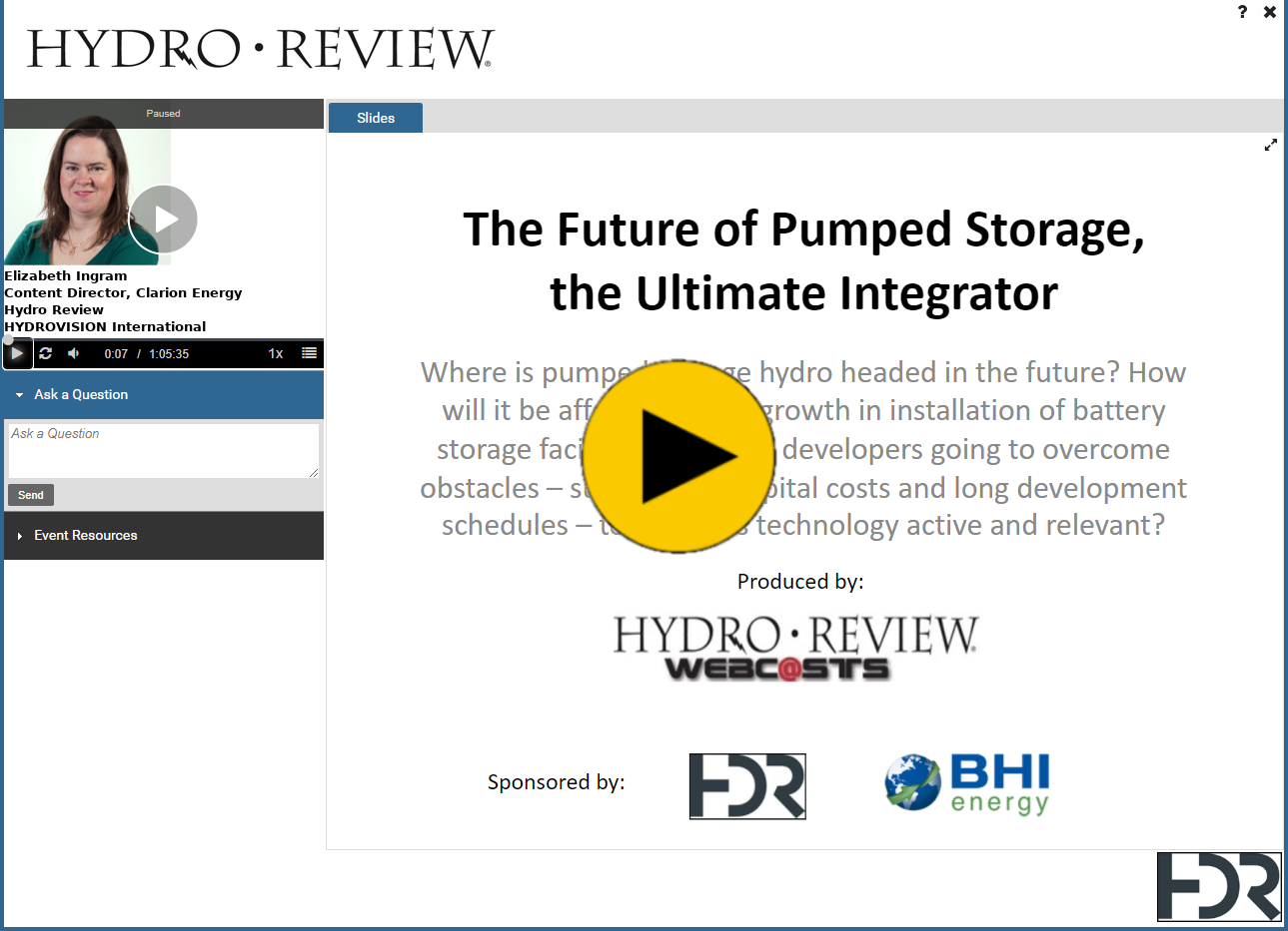 The Future of Pumped Storage