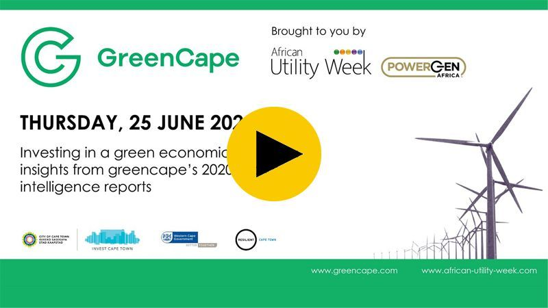 GreenCape: Investment opportunities in the green economy