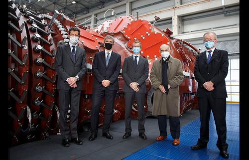 Italy's biggest ever gas turbine unveiled