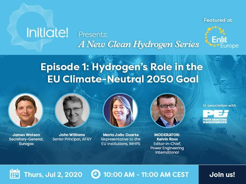 Enlit Europe Hub Series Episode 1 Clean Hydrogen - Hydrogen's Role in the EU Climate-Neutral 2050 Goal