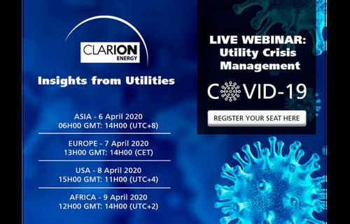 Live webinar series - COVID-19: Utility Crisis Management