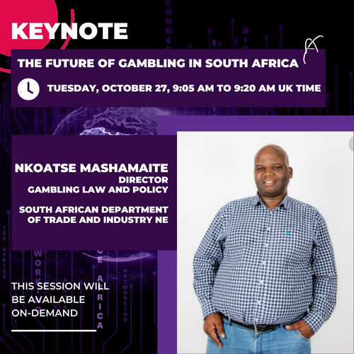 DTIC gaming law and policy chief announced as ICE Africa Digital keynote speaker