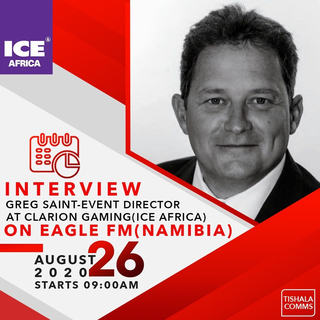 Greg Saint:Event Director at Clarion Gaming for ICE Africa- EAGLE FM( Namibia)