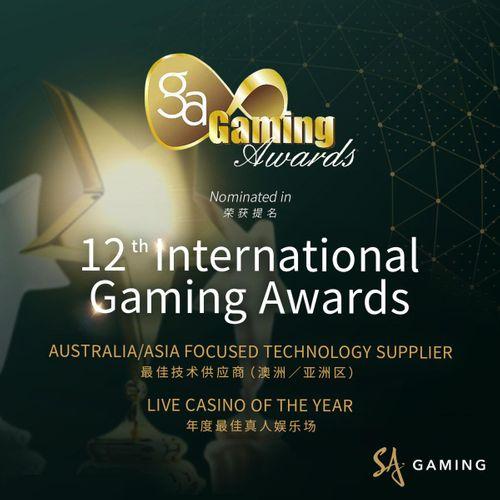 SA Gaming received 2 nominations from the International Gaming Awards