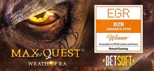 Betsoft WINS Innovation in RNG Casino Software at EGR B2B Awards 2019