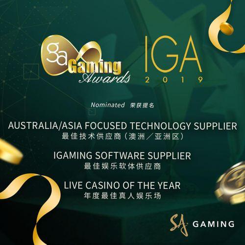 SA Gaming nominated in three categories at IGA 2020