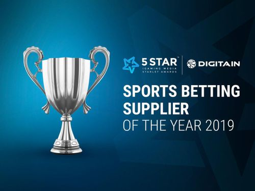 Digitain wins Sports Betting Supplier of the Year at @5starigaming Awards 2019.