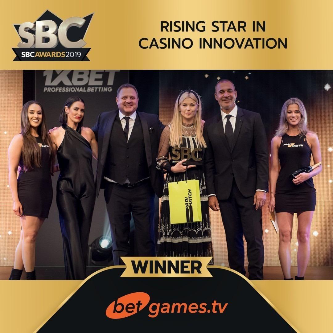 BetGames .TV scoops top accolade at SBC Awards