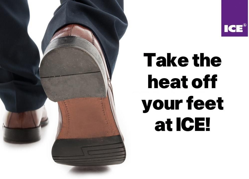 Footcare kits help visitors to biggest ICE on record take the 'heat off their feet'