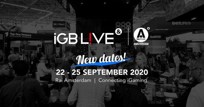 iGB Live! And iGB Affiliate Amsterdam 2020 postponed until September