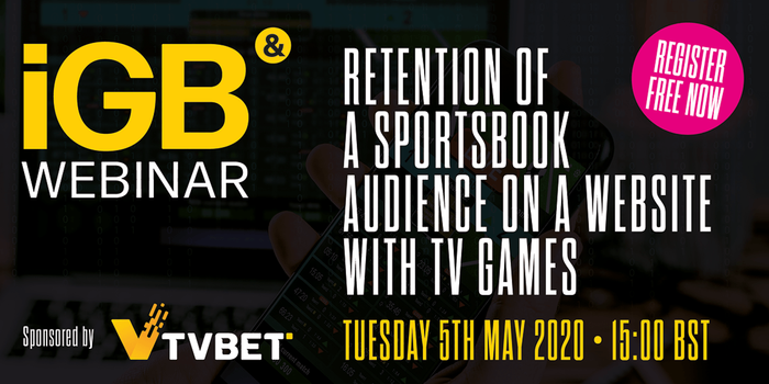 Retention of a sportsbook audience on a website with TV games
