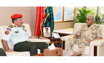 Chief of staff receives Jordanian military official